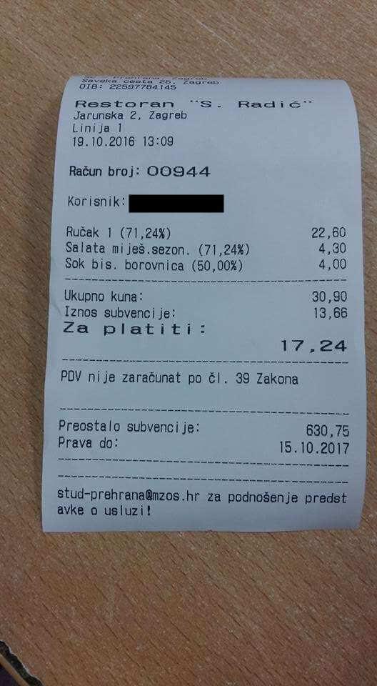 SC i Srce priznali: Greškom blagajnice studentica platila više u menzi