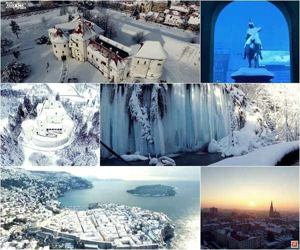 Lijepa naša: Ovo su najatraktivnije videosnimke Hrvatske pod snijegom