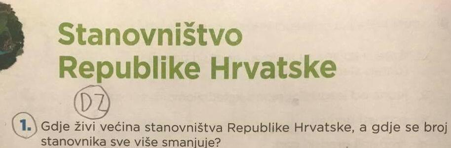 Za smijati se ili plakati? Odgovor školarca na pitanje 'gdje živi većina stanovništva Hrvatske' zapalio Facebook