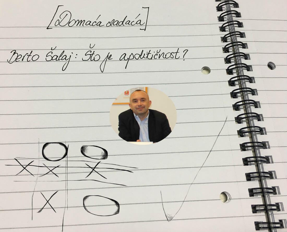 [Domaća zadaća] Berto Šalaj: Što je apolitičnost?