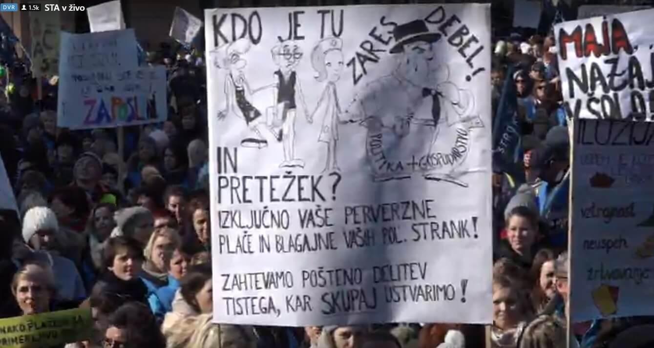 Ovako se nastavnici iz susjedstva bore za svoja prava: Krenuo masovni štrajk i prosvjed obrazovnih djelatnika u Sloveniji