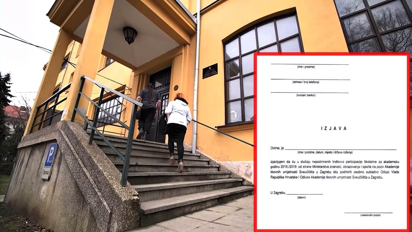 Vlada nije usvojila odluku o subvenciji školarina, a studenti moraju potpisati da će 9.600 kuna platiti sami