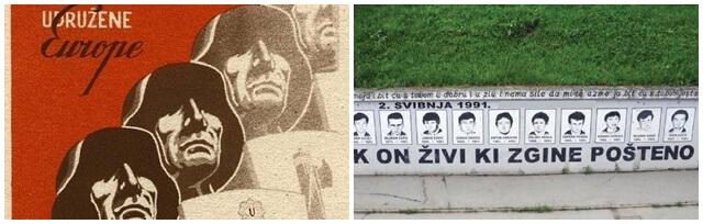 [ZADATAK DANA] Na koje povijesne ratne događaje upućuju plakat i grafit s fotografije?