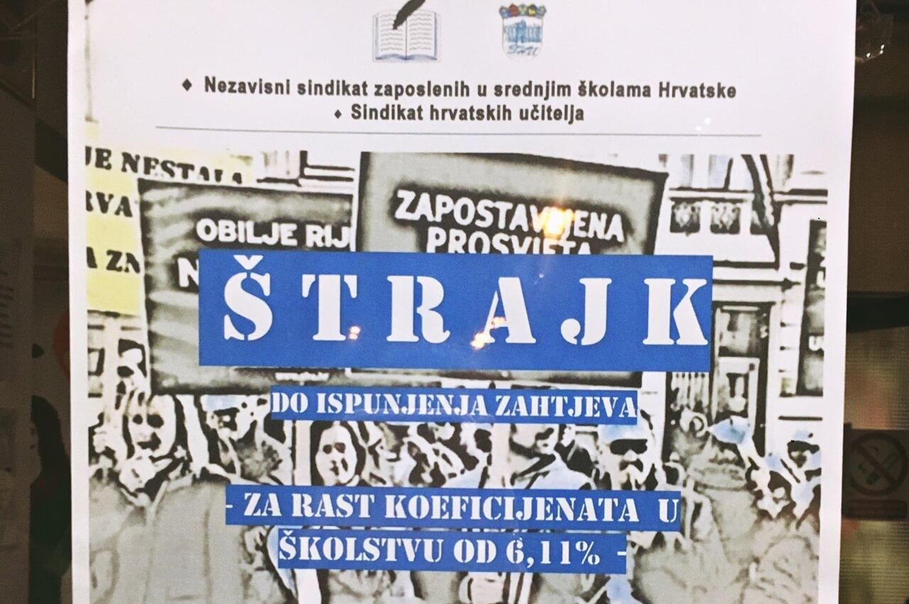 Pogledajte u kojim županijama u četvrtak i petak zbog štrajka nema nastave