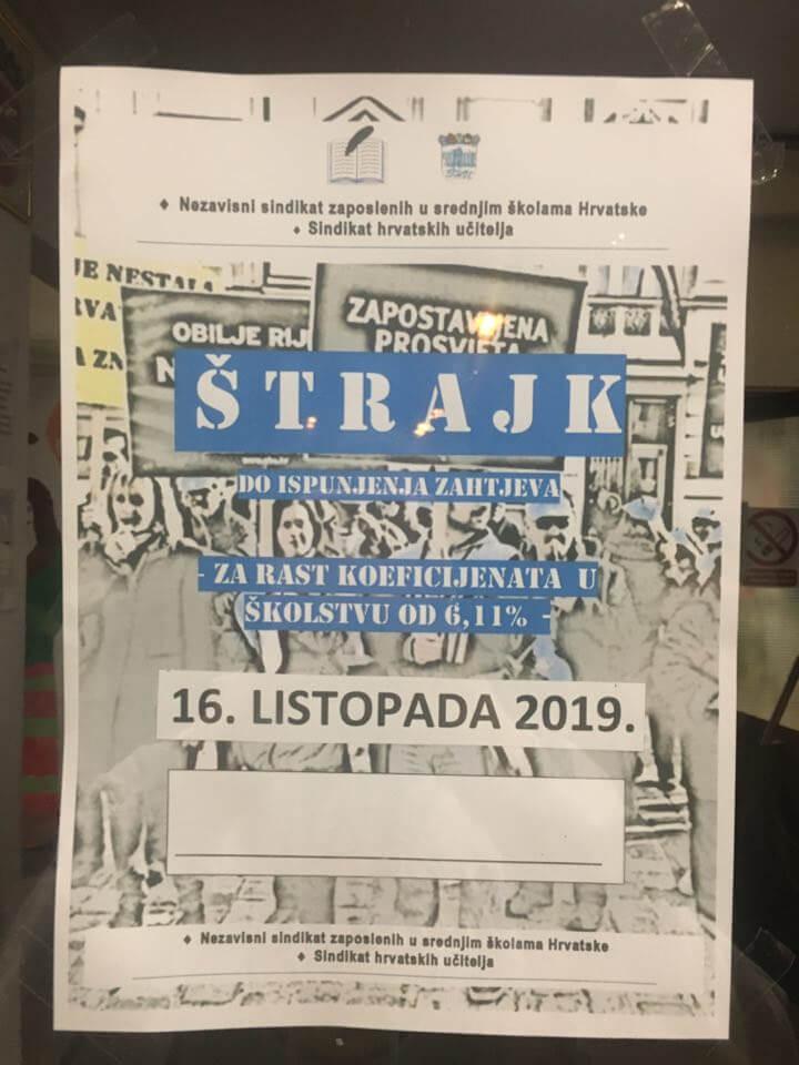Vijest koja će obradovati veliki broj učenika: Potvrđeno da se u srijedu štrajka samo u Zagrebu