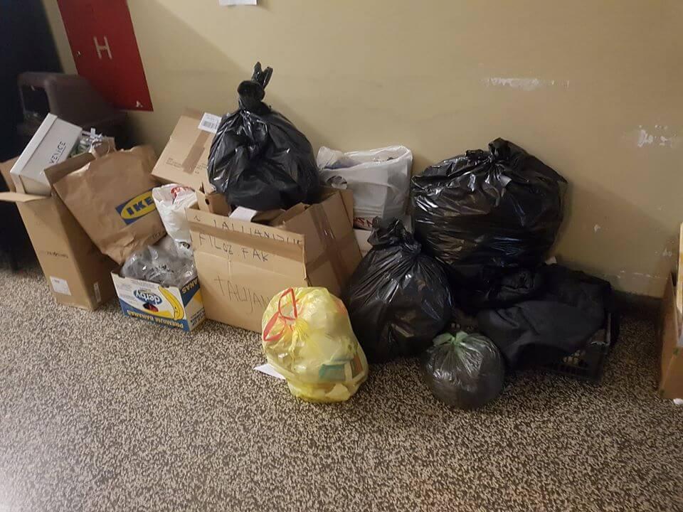 Na Filozofskom i čistačice štrajkaju svaki dan: Fakultet je već sad prepun smeća