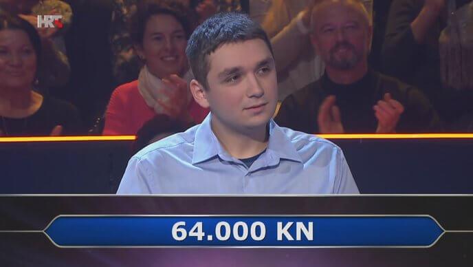 [Zadatak dana] Apsolvent FFZG-a u 'Mlijunašu' je osvojio 64.000 kuna. Znate li vi odgovor na pitanje za taj iznos?