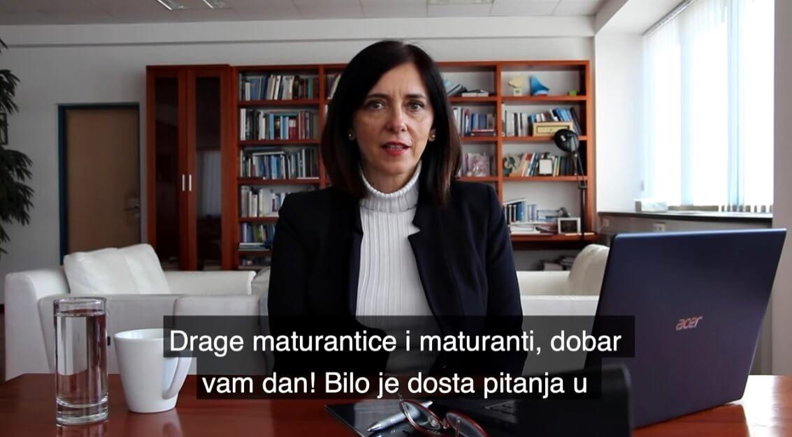 Preko 50 učenika jedne škole potpisalo pismo kojim traže ostavku ministrice Divjak: 'Ne želimo da se matura provede'