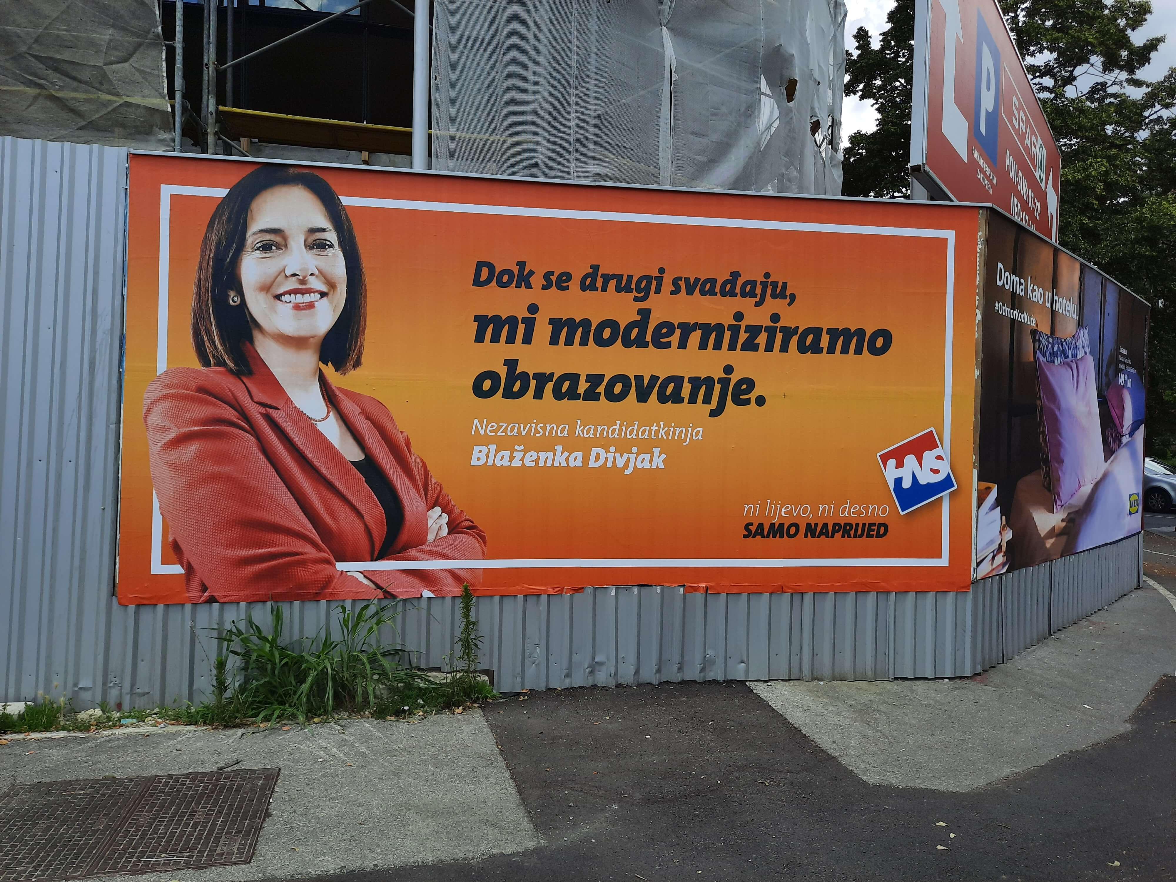 Matematičarka, a ne političarka? Divjak tvrdi da je nezavisna kandidatkinja, a smiješi se s plakata HNS-a