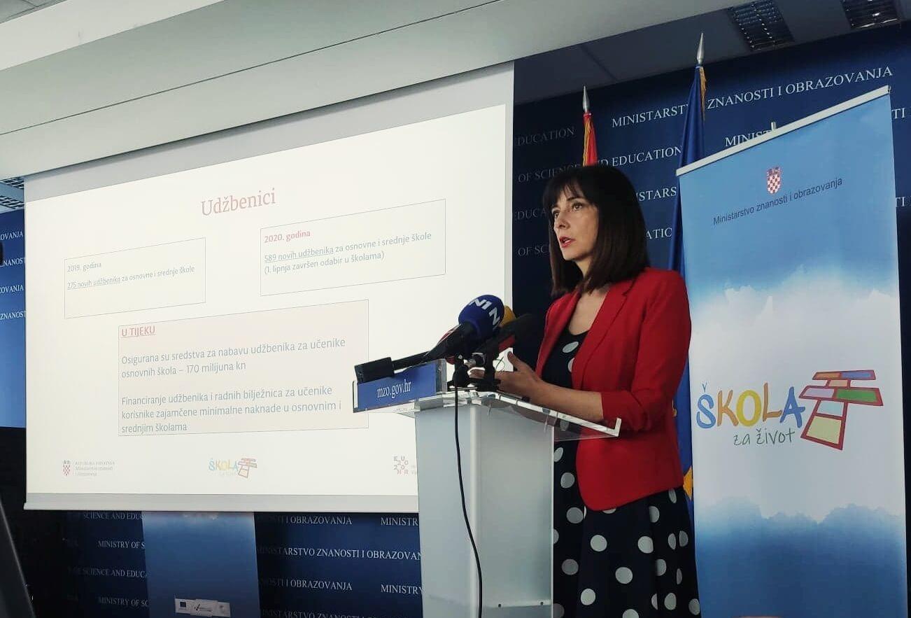 Ministrica Divjak otkrila kako će izgledati iduća školska godina, tri su scenarija