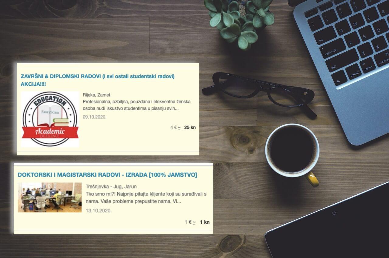 Kad prevara postane unosan biznis: Pronašli smo hrpu oglasa tvrtki koje pišu akademske radove