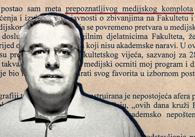 Profesor Filozofskog koji je prepisao dio programa za dekana kaže da je meta 'medijskog komplota'