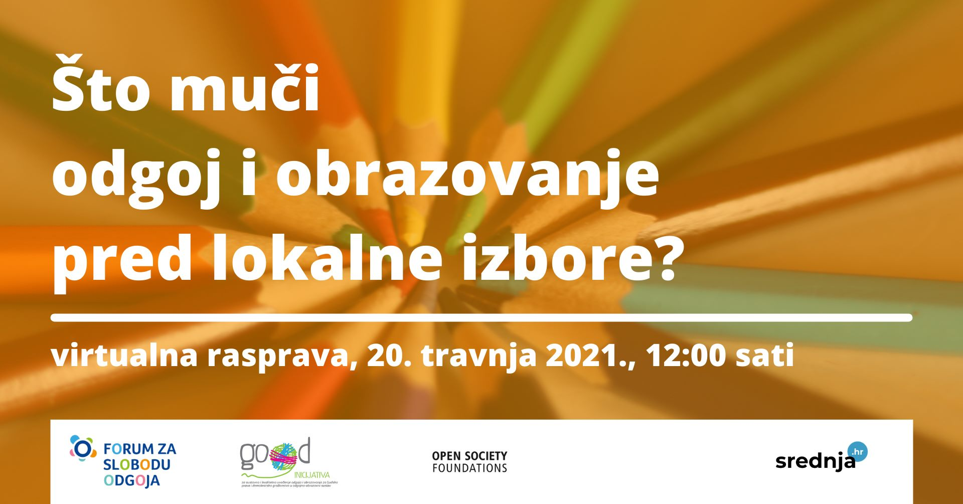 Nastavnici, roditelji, učenici – pridružite nam se na panel diskusiji 'Što muči odgoj i obrazovanje pred lokalne izbore?'