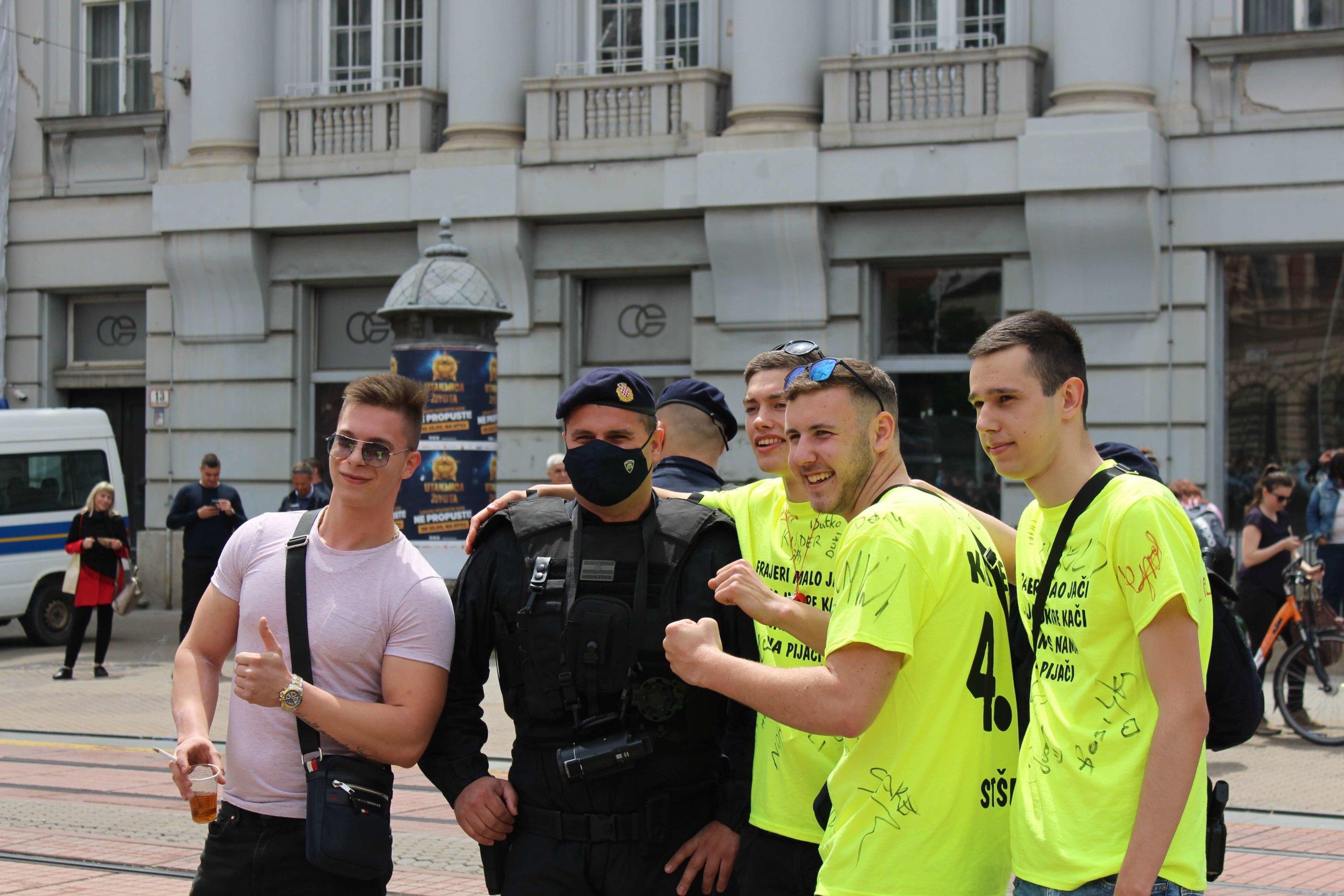 Na jučerašnjoj norijadi u Zagrebu policija privela ukupno 12 maturanata