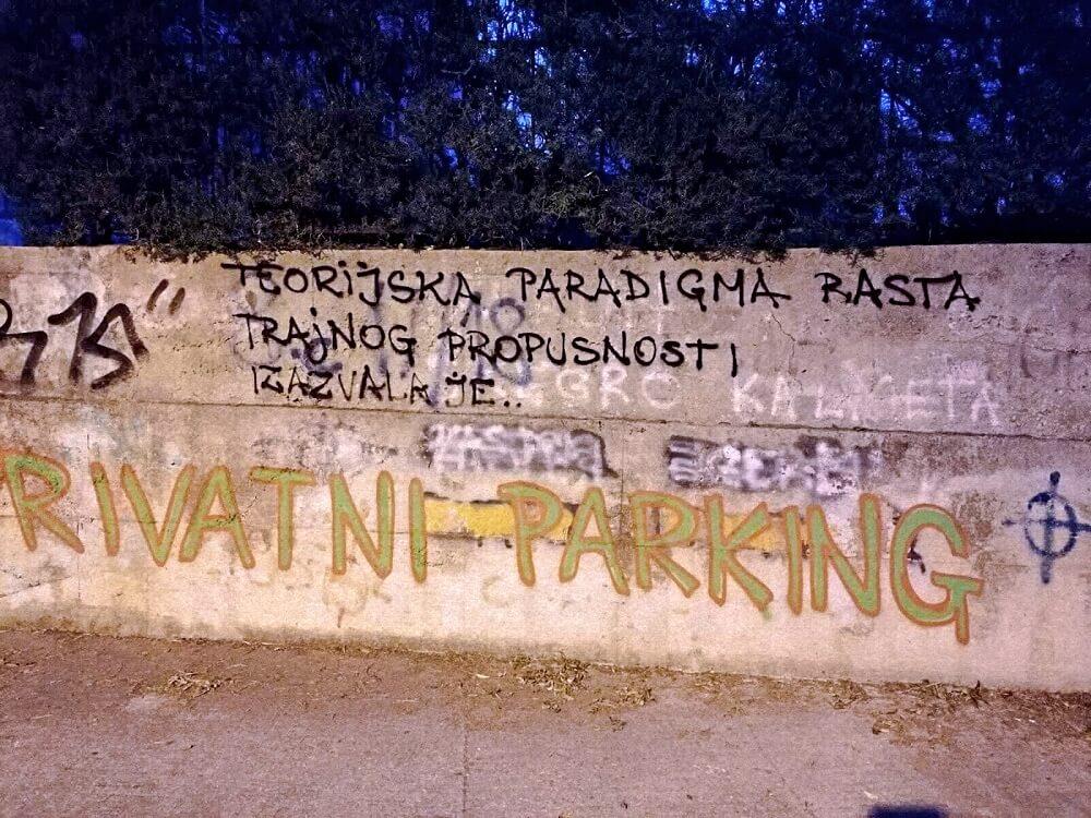 zidni natpis s citatom iz doktorata vice mihanovića