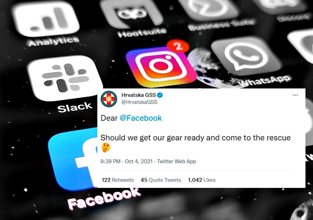 Hrvatska gorska služba spašavanja nakon što je pao Facebook i Instagram