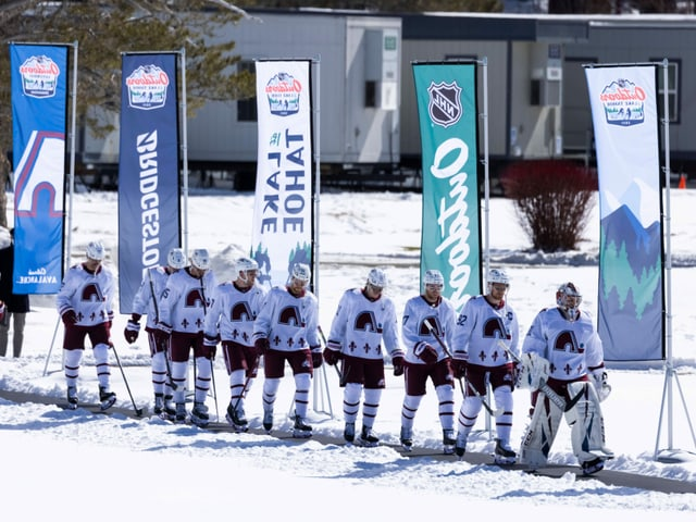 The players of the Colorado Avalanche.