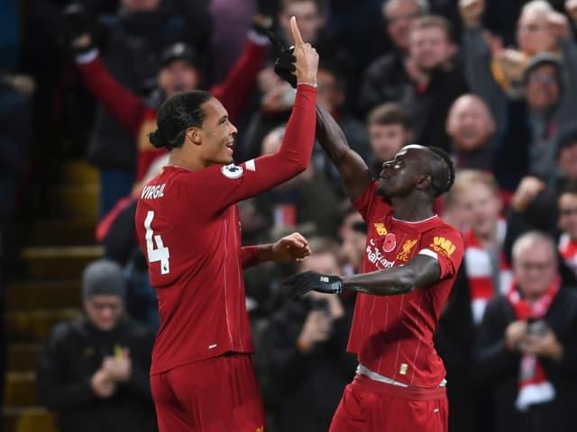 Liverpool with Virgil van Dijk and Sadio Mane.