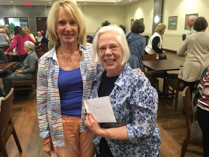 Mary Ann Fisher Ryan and Nancy Fallon for winning the grand prize during our Annual Countywide Party Bridge Tournament last year.