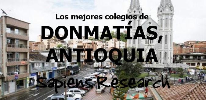 Los mejores colegios de Donmatías, Antioquia