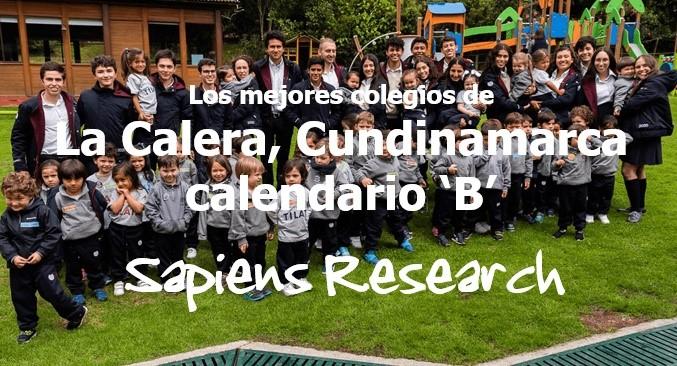 Los mejores colegios de La Calera, Cundinamarca calendario 'B'