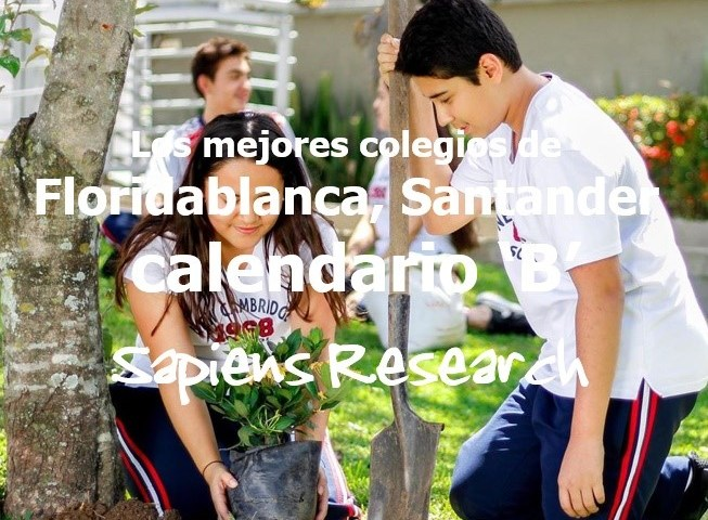 Los mejores colegios de Floridablanca, Santander calendario 'B'