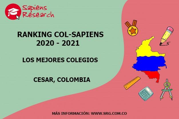Ranking mejores Colegios-Cesar, Colombia 2020-2021