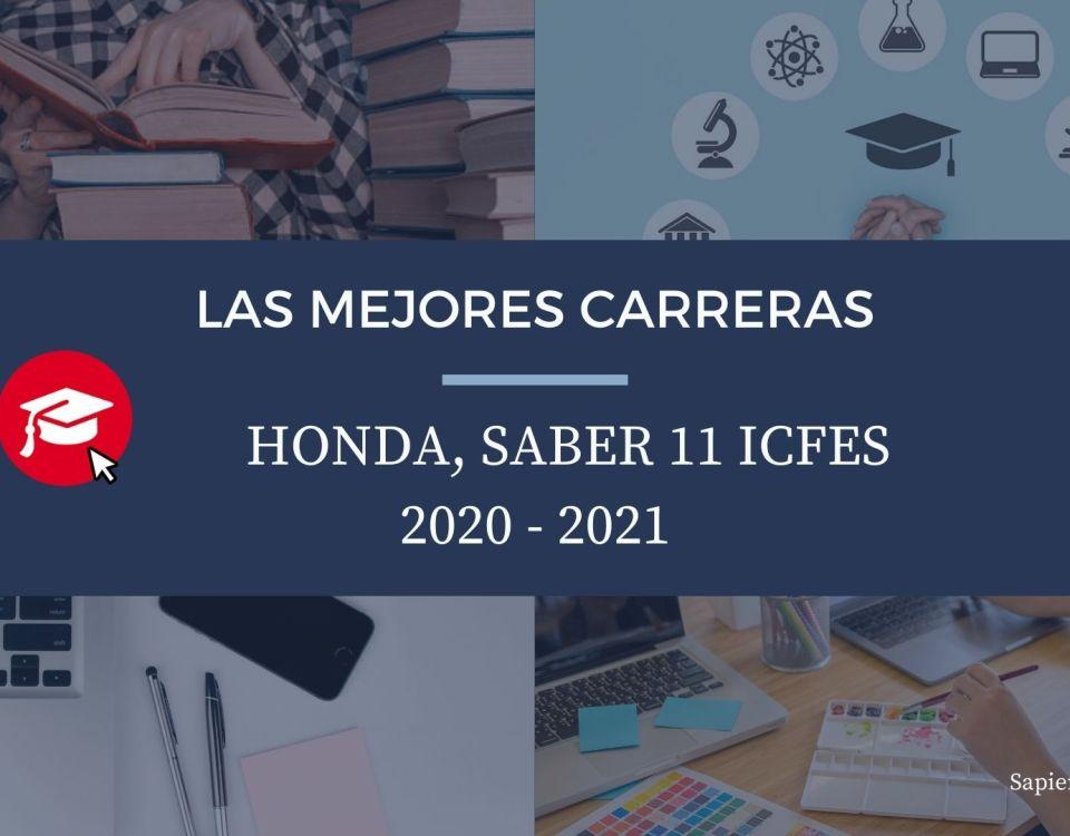 Las mejores carreras Honda, saber 11, Icfes 2020-2021