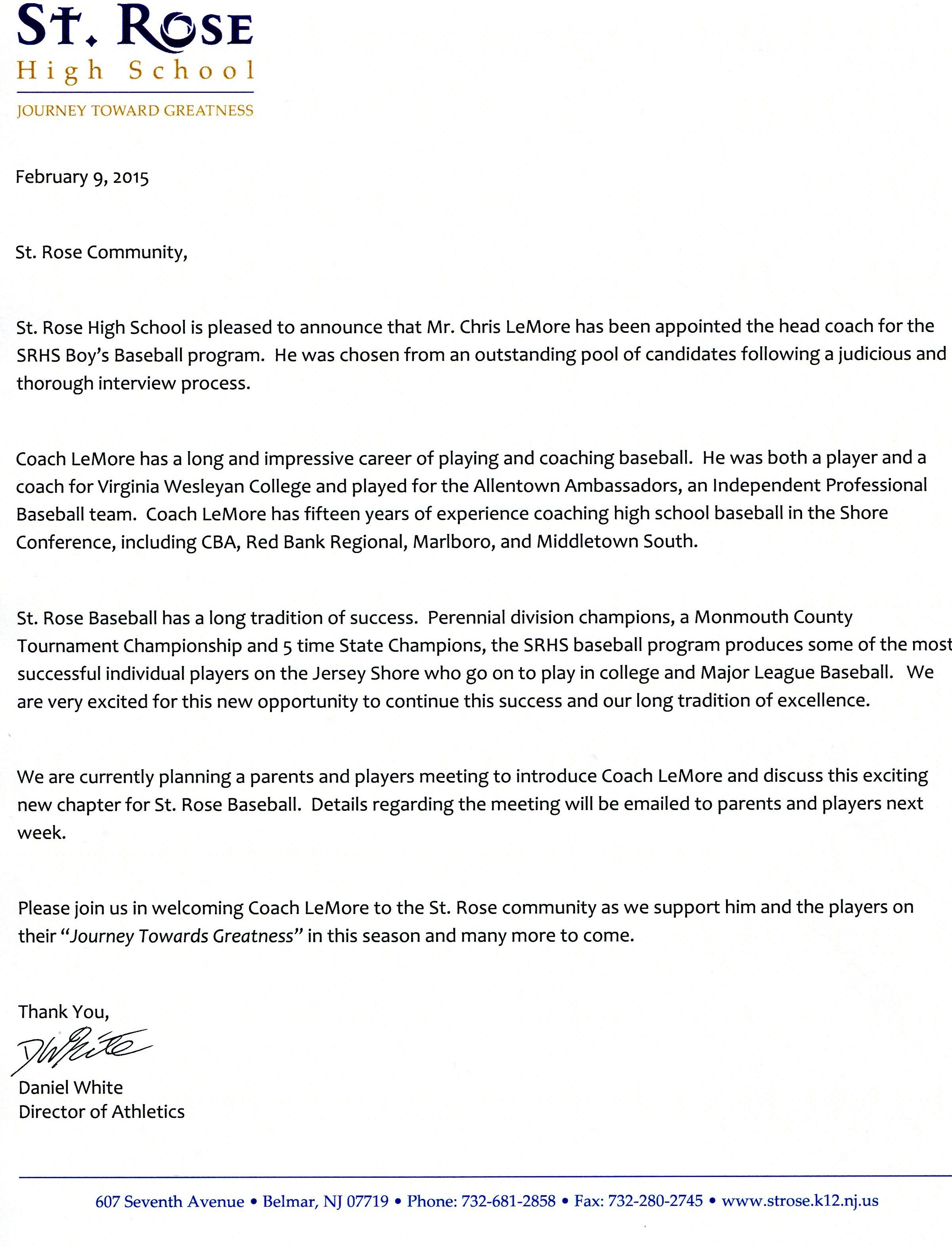 College essay written by a baseball player