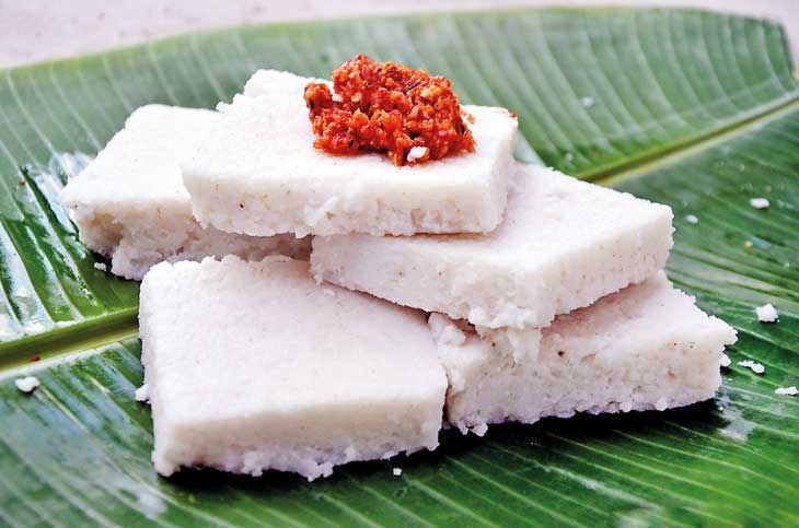 Milk Rice and sambal