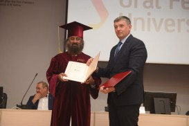Honorary Doctorate By Ural Federal University