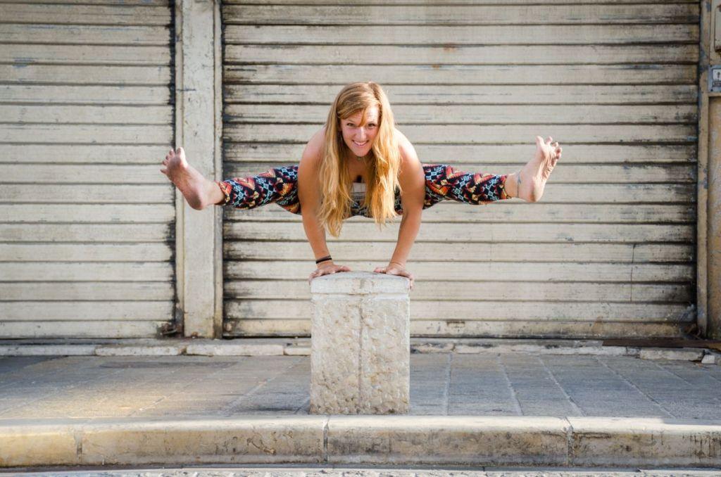 Sesion de fotos de yoga