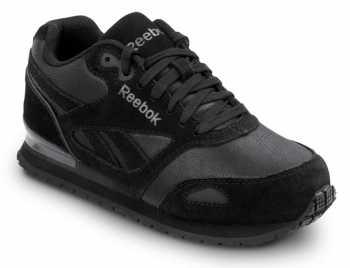 Solid Black Slip Resistant Shoes
