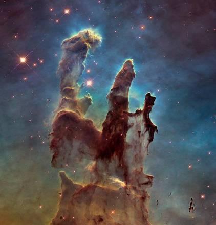 hubble i pilastri della creazione