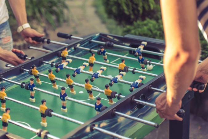 outdoor foosball table game