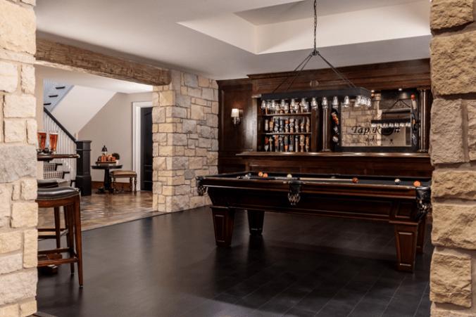 Custom lower level interior design