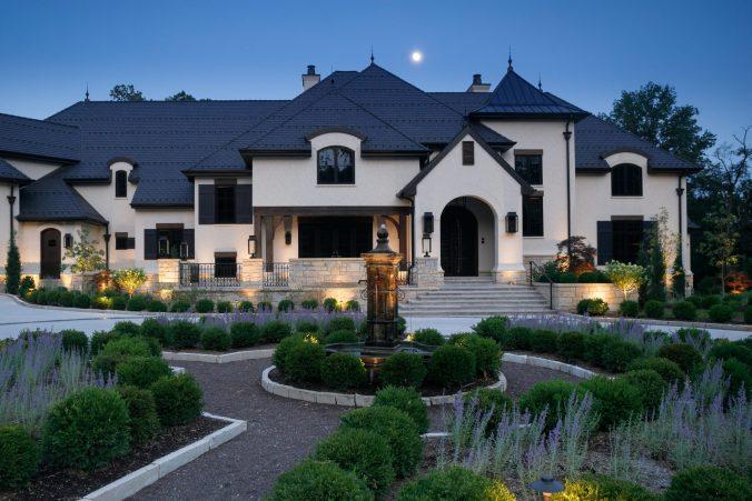 Ladue home architecture front entrance design