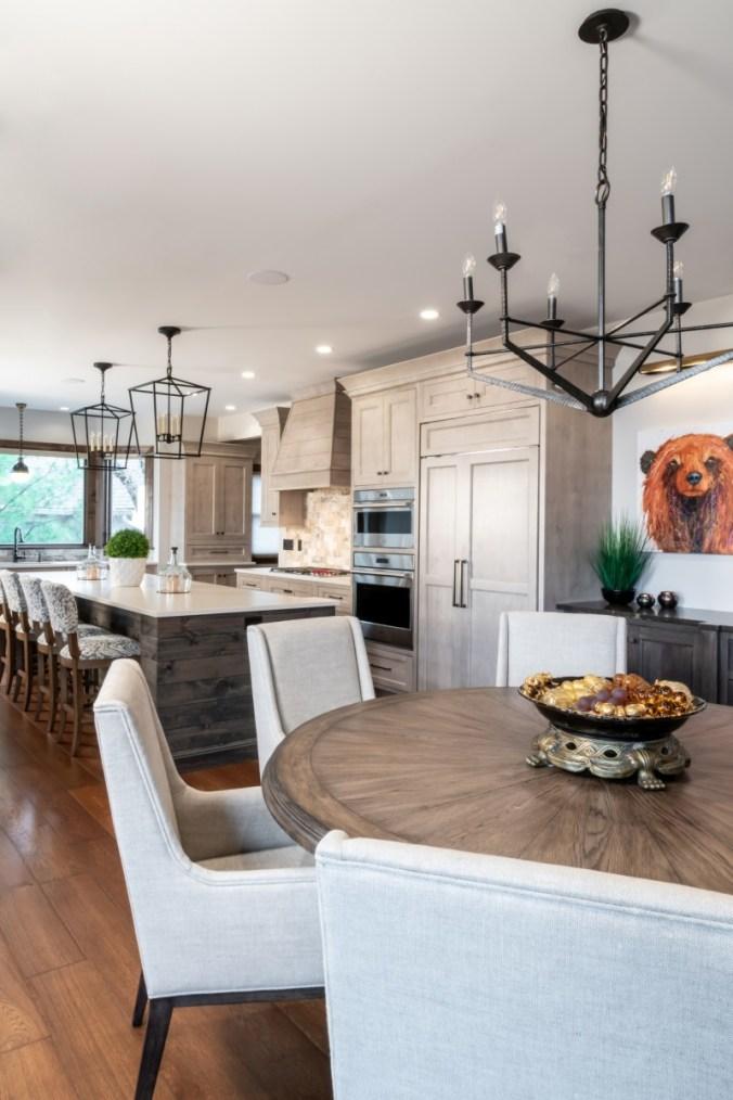 Kitchen area design after renovation