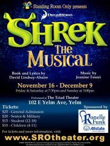 SHREK THE MUSICAL Sunday Matinee @ Triad Theater | Yelm | Washington | United States