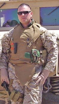 David Carrera, USFS firefighter on the Angeles National Forest, served as a Marine Corps staff sergeant 1998-2006.