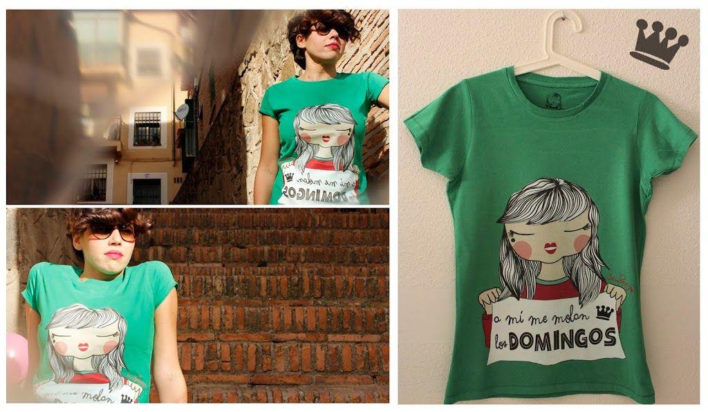 """Camiseta """"A mí me molan los Domingos"""""""