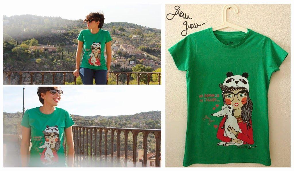 """Camiseta """"Un Domingo de galgos"""""""