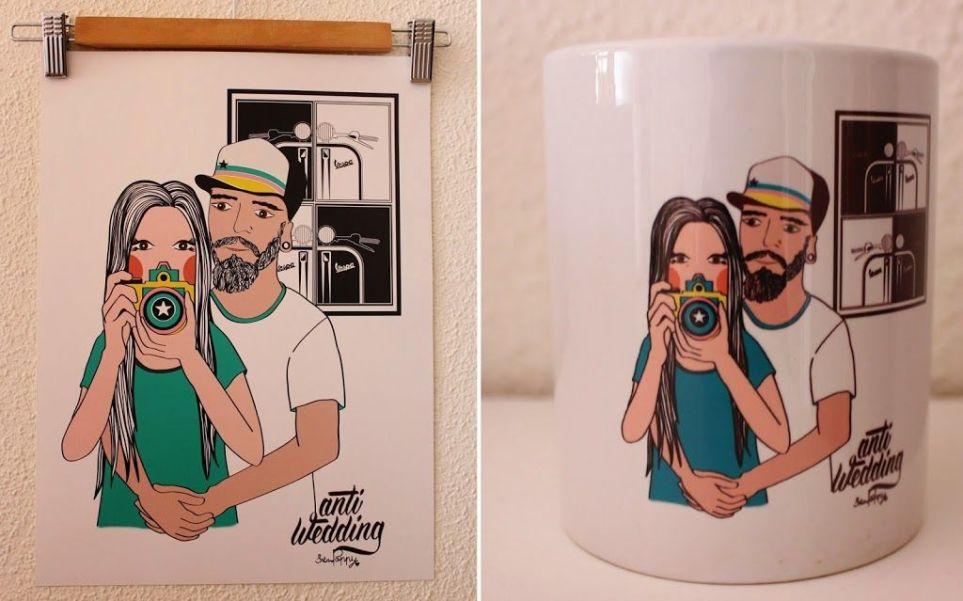 lámina y taza personalizada