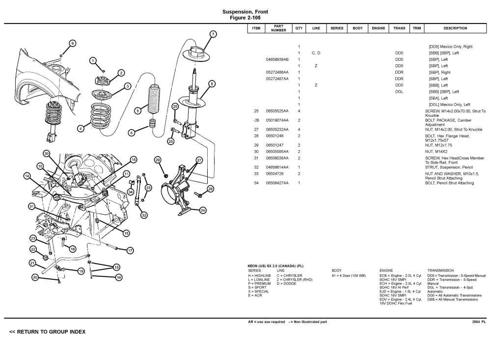 medium resolution of dodge neon suspension diagram wiring diagram paper 2003 dodge stratus rear suspension diagram