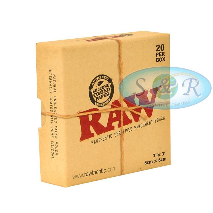 raw parchment paper pouches