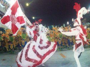 Priscila Rosa, porta-bandeira do Salgueiro, Carnaval do Rio 2000. Foto: Divulgação