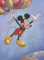 """Chamado de """"Spreading Happiness Around the World"""", criado por Mark Henn, o cartaz em comemoração aos 90 anos do Mickey foi divulgado na San Diego Comic-Con, em julho deste ano (Foto: Divulgação)."""