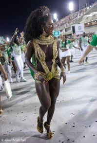 Musa da Imperatriz Ketula Mello no ensaio técnico 2019. Foto: Justin Scott Parr