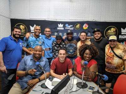 """Império de Casa Verde participa do """"Programa No Mundo do Samba"""". Foto: Rádio Trianon"""