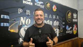 """""""Programa No Mundo do Samba"""" recebe Fenandinho SP. Foto: Rádio Trianon."""
